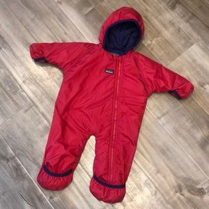 EUC Patagonia toddler baby bunting bodysuit 3-6m